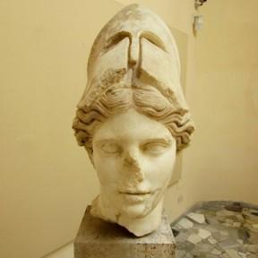 Atena con elmo, I sec d.C Ostia antica