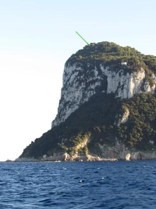 Capri. In cima la villa Jovis