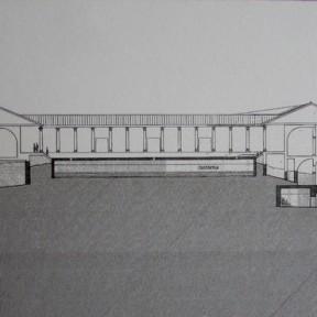 Ricostruzione a sezione - Grotte di Catullo