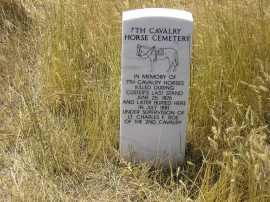 Memorial a tutti i cavalli uccisi durante la battaglia di Little Big Horne