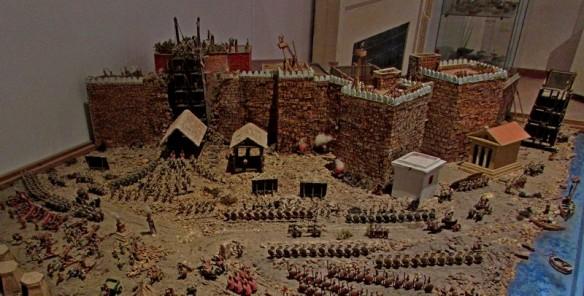 Plastico dell'assedio di Mozia - Museo archeologico G. Whitaker
