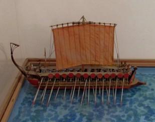 Plastico delle navi greche di Dionigi - Museo archeologico G. Whitaker