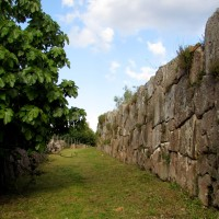 Antica città romana di Cosa, la fortezza sul mare Mediterraneo.