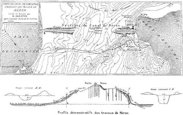 Remains_of_Nero's_Isthmus_Canal_in_1881